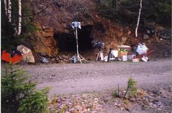 NRK opptak i og utenfor Nyseter gruvene, nedlagte sinkgruver