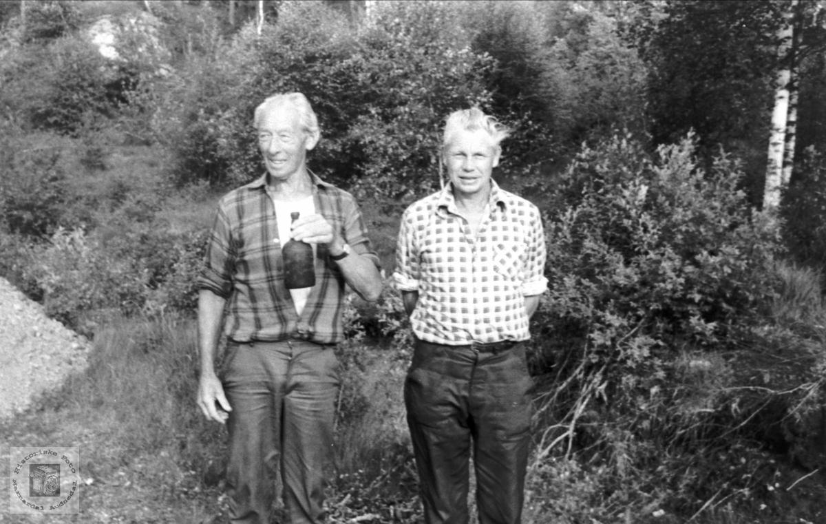 Portrett av Søren Hesså og John Roland, Bjelland.