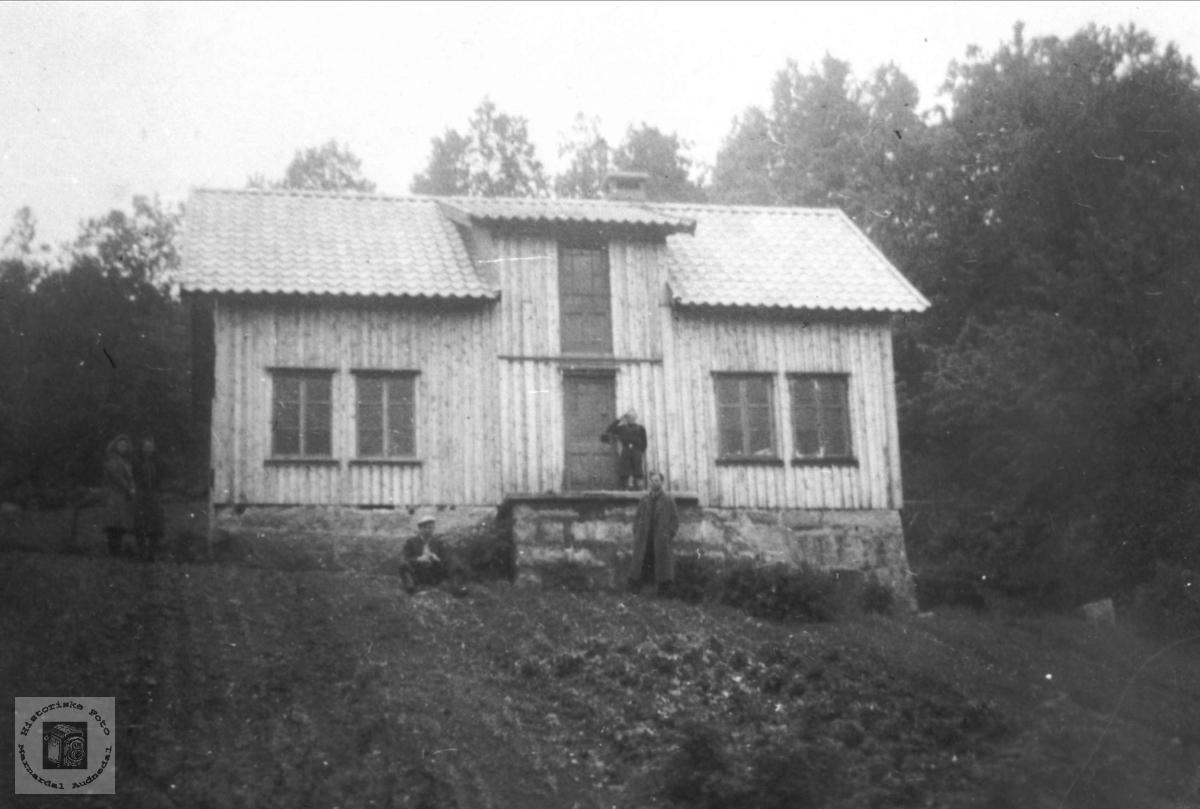 """Det nye huset """"Under Botnan"""", Solberg i Bjelland."""