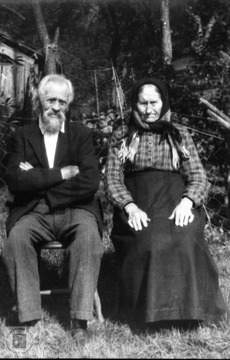 Ekteparet Ole og Anne Tonette Haukom.