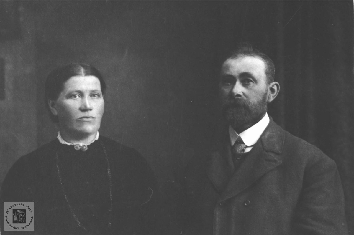 Ekteparet Tarjer og Ole Skjævesland, Øyslebø.