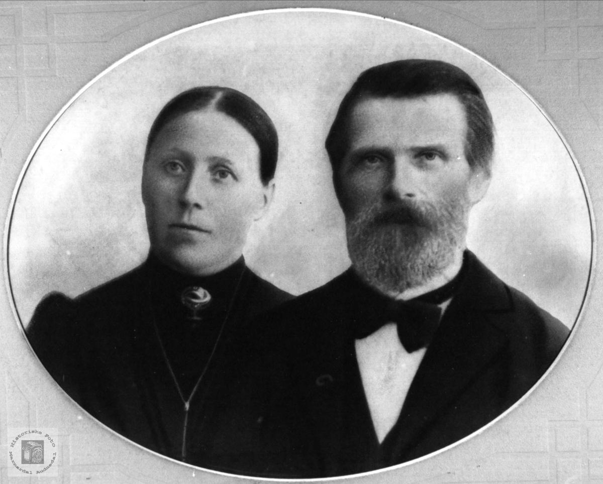 Ekteparet Sille Marie og Ola Andreas Skjævesland, Øyslebø.
