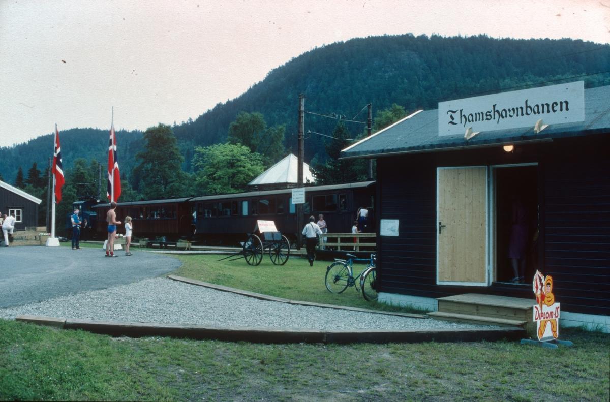 Første ordinære driftsdag på den nye museumsjernbanen Løkken - Svorkmo.