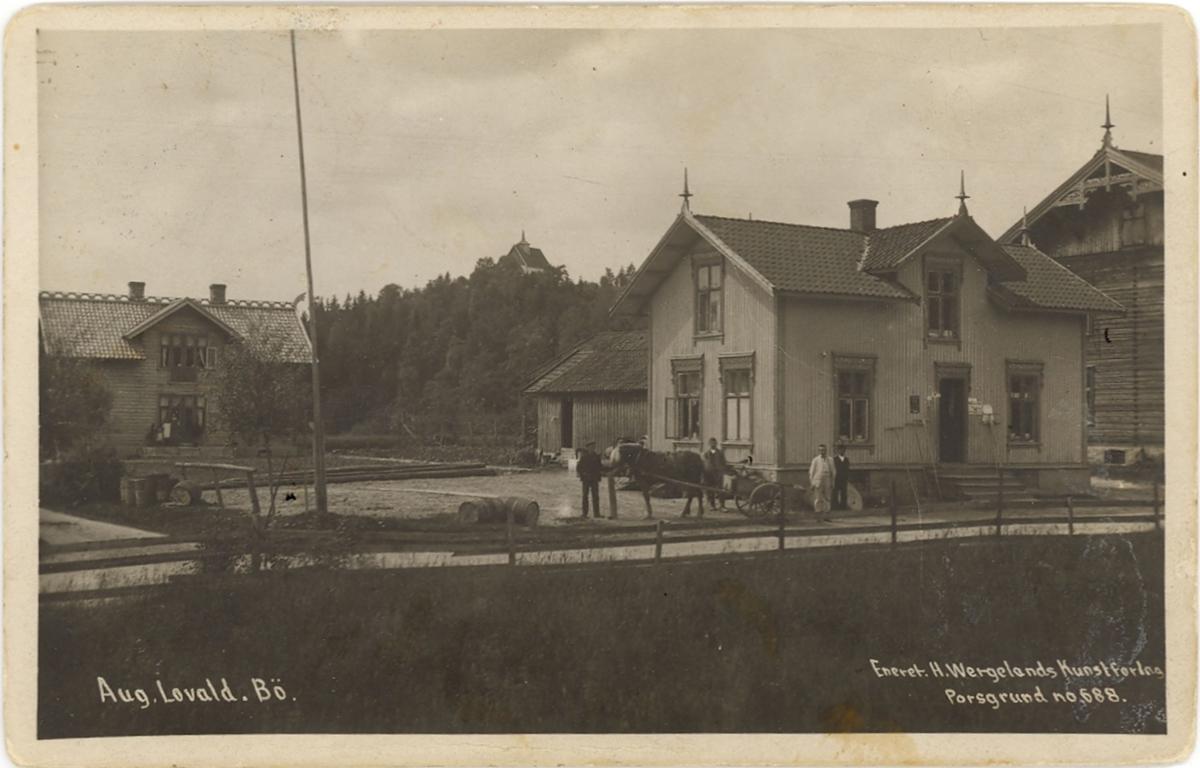 Butikken til Aug. Lovald Bø i Telemark