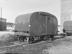 Jernbanevogn Gx 1454, såkalt koffert  fra Hønefoss Karosseri