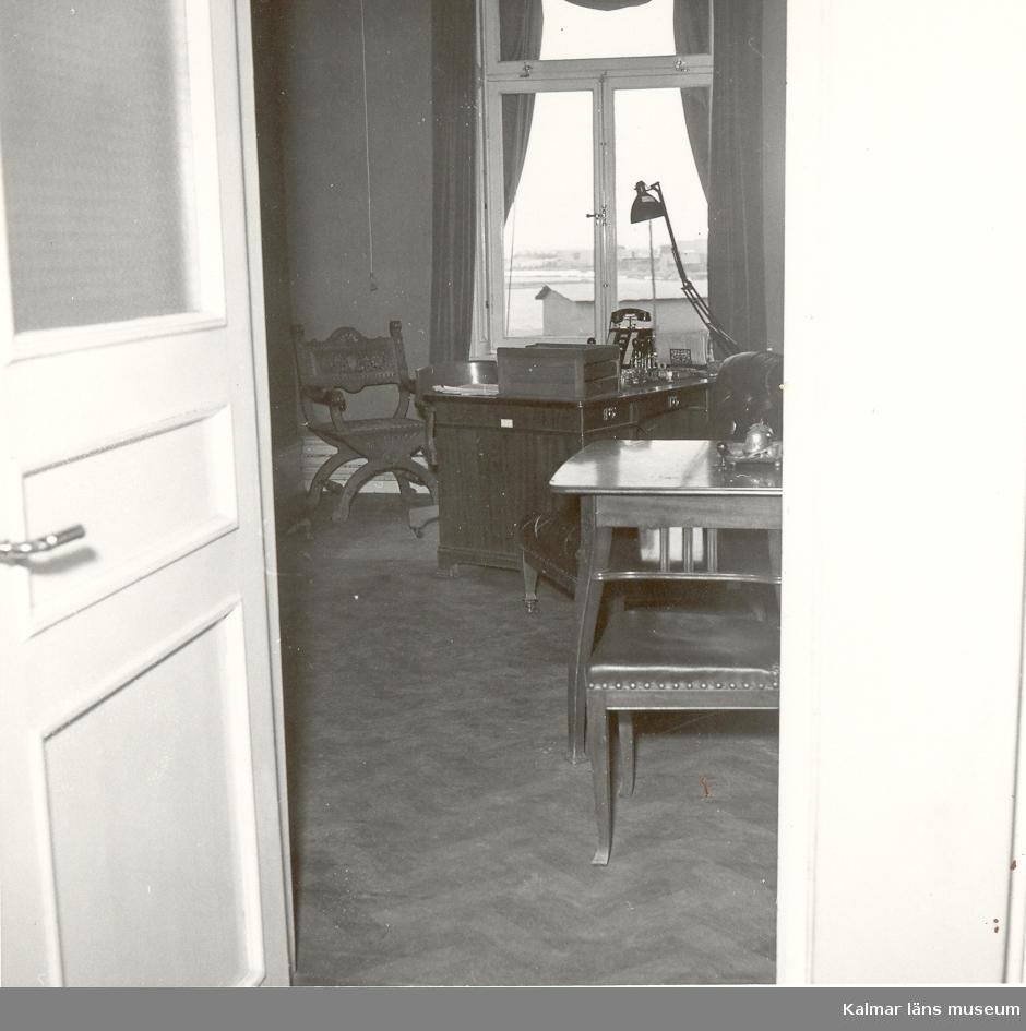 Interiör från Kalmar ångkvarns kontorslokaler.
