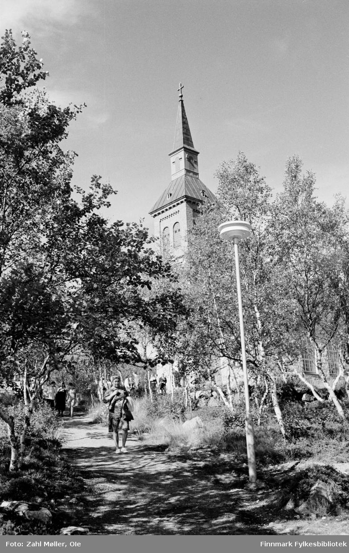 Utsjok Kirke. Utsjok-tur, Finland. Fotografert i august 1969.