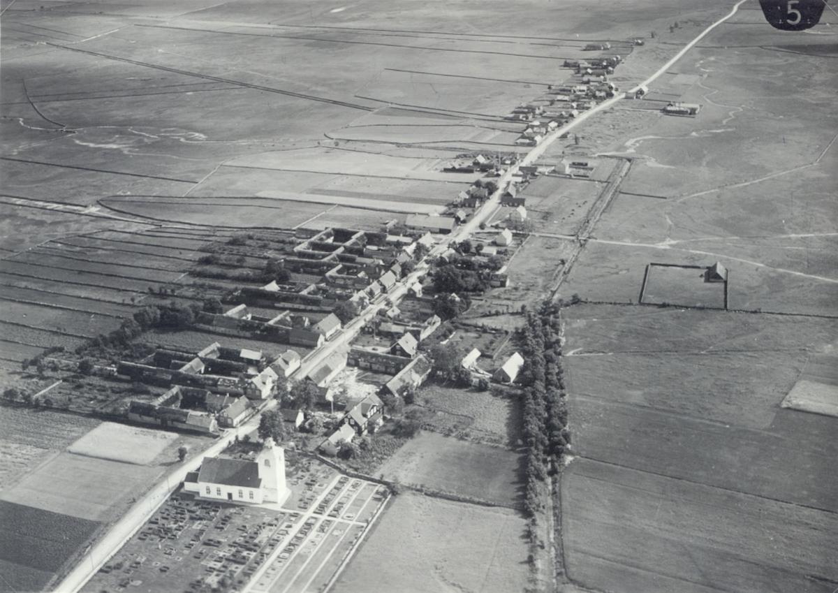 Flygfoto över Hulterstad.