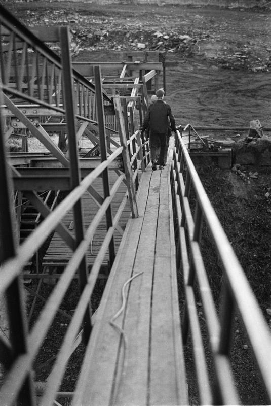 Sista arbetsdagen vid Svartå Hytta, Nysunds socken ( före 1967 Kvistbro socken).Den 28 oktober 1966