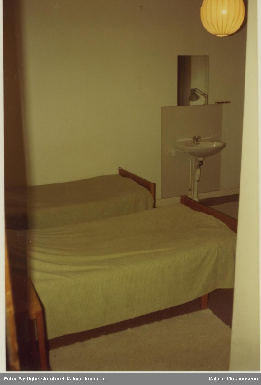 Sovrum på övre våningen i villa Solbacken.