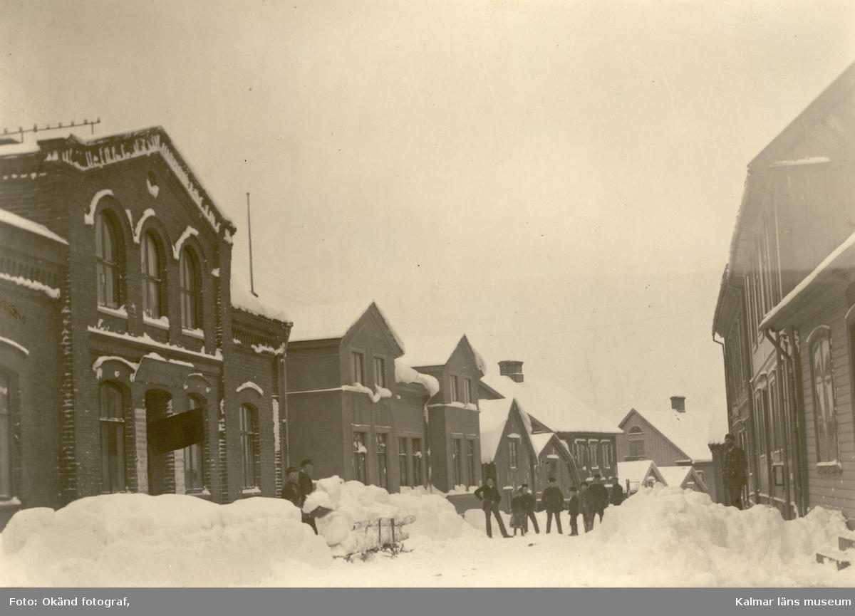 Snöröjning en nederbördsrik vinter i Mönsterås.