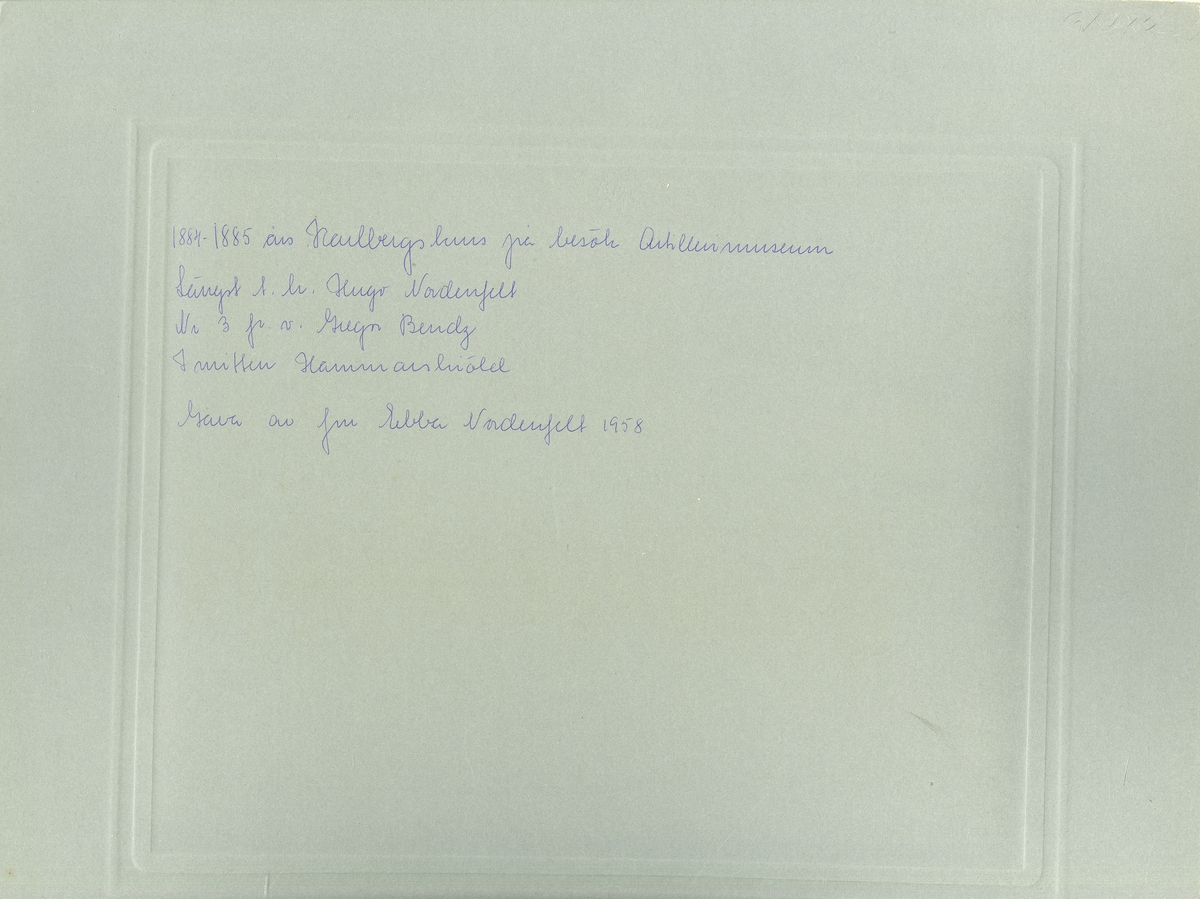 1884-1885 års Karlbergskurs på besök Artillerimuseum (Armémuseum).