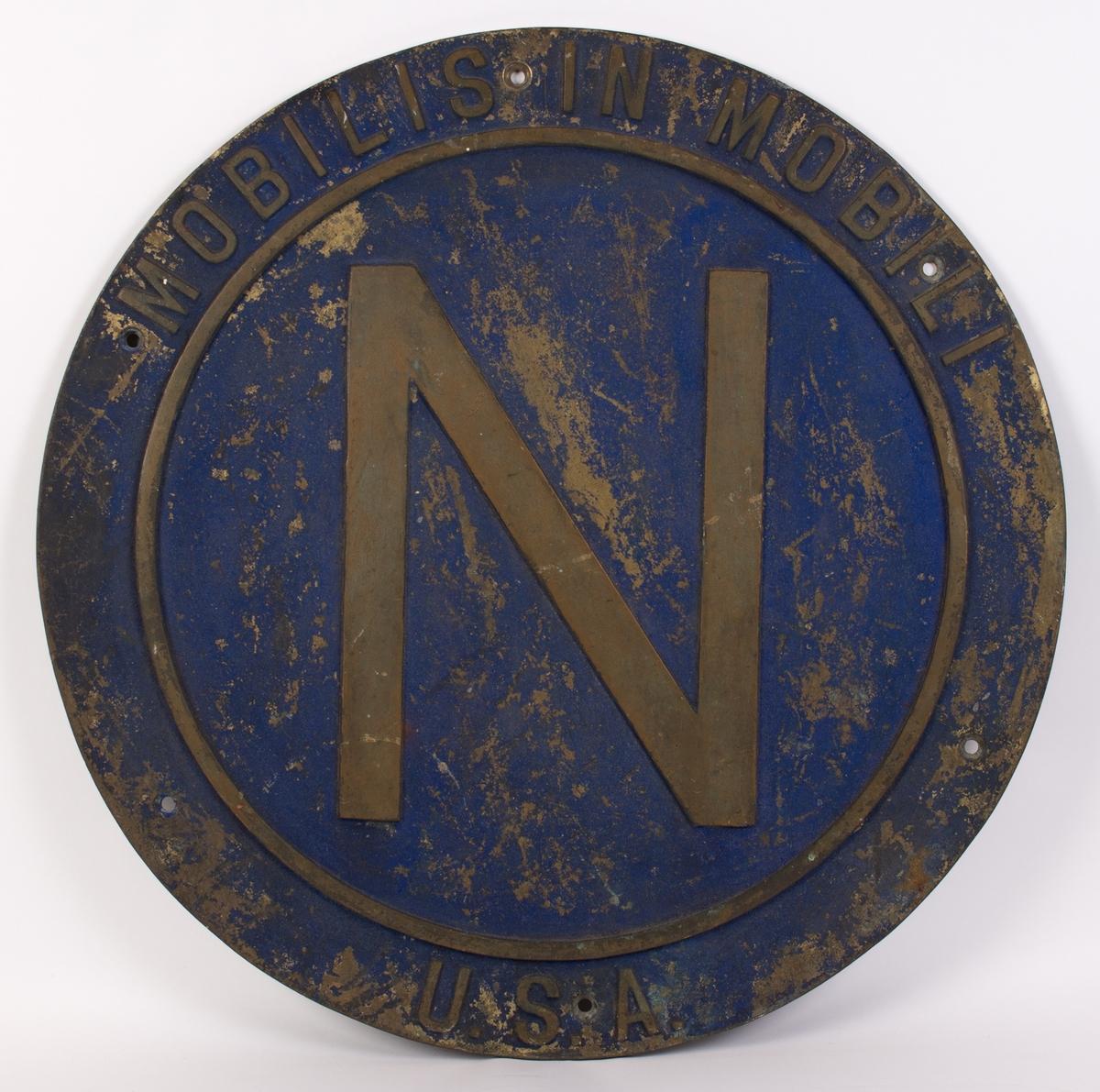 Emblem fra ubåten NAUTILUS. Rundt.