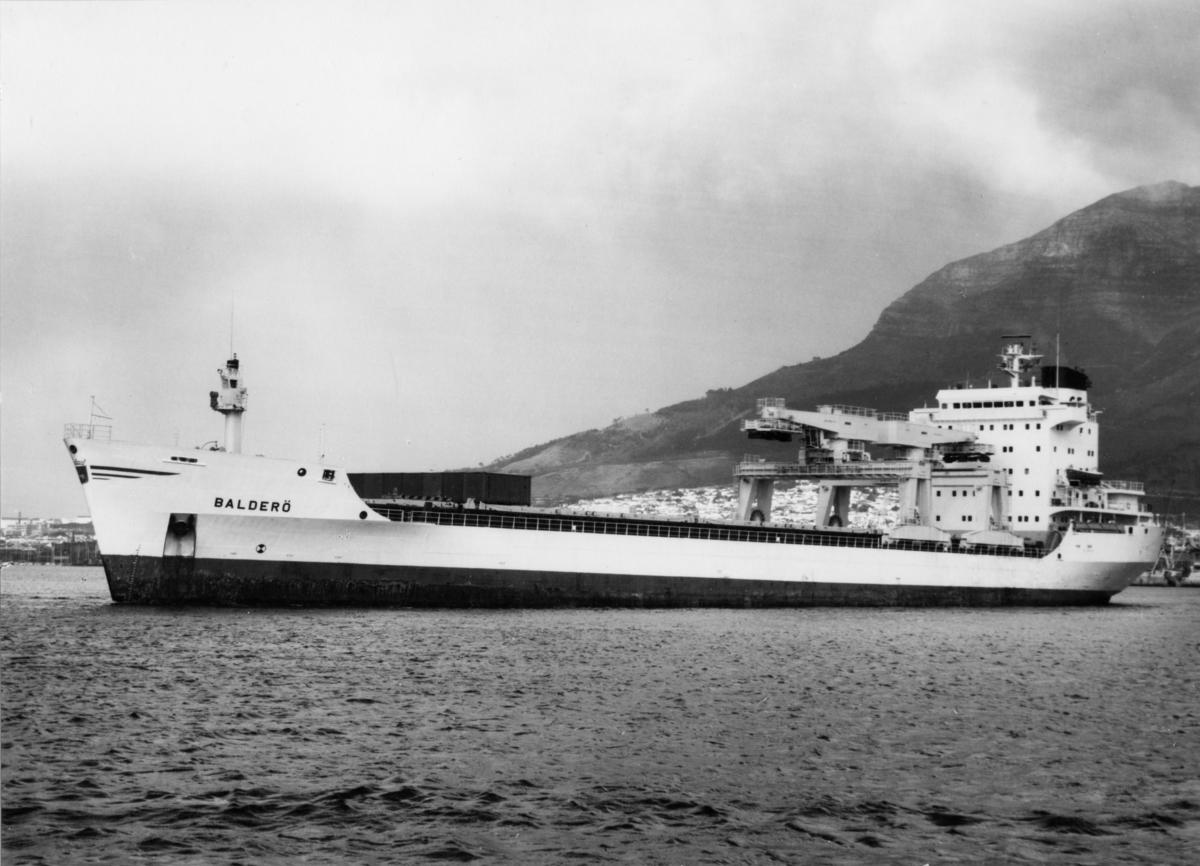 Lastfartyget ms Balderö ägdes av Rederi Ab Gustaf Erikson 1978 - 1988.