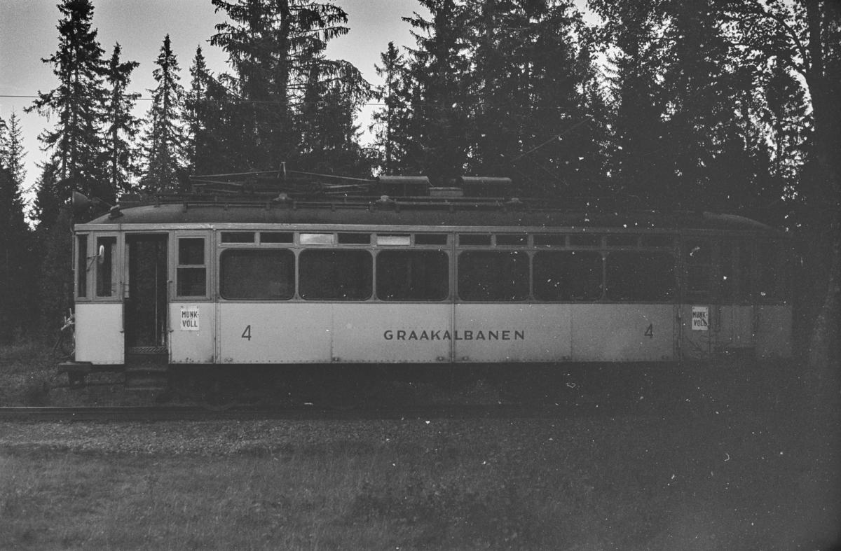 Gråkallbanens vogn nr. 4 ved Lian
