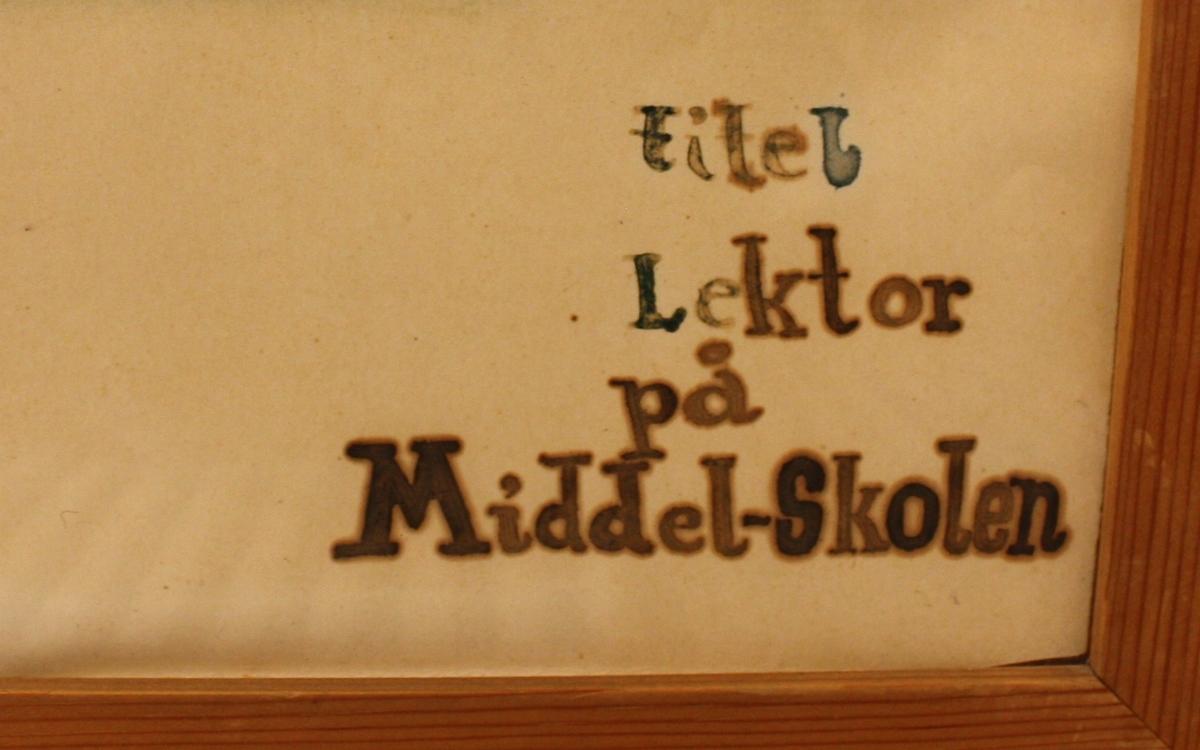 Lektor på Middel-skolen. [Tegning]