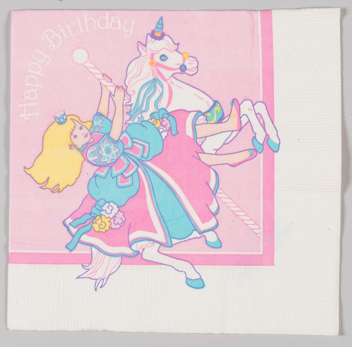 My Little Pony og en eventyrprinsesse.  My Little Pony er en merkevare med fargerike ponnifigurer i plast som kom i salg i begynnelsen av 1980-tallet.