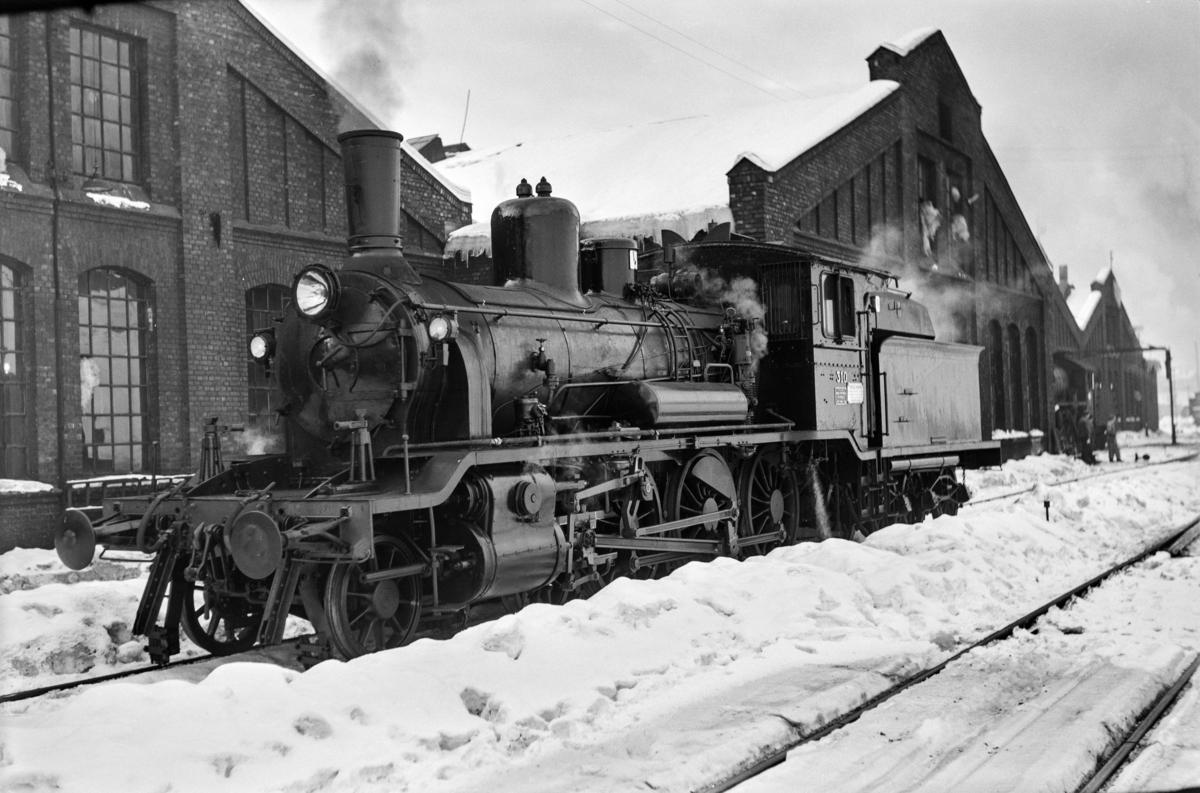 Damplokomotiv type 18c nr. 310 ved Gamlestallen i Lodalen i Oslo.