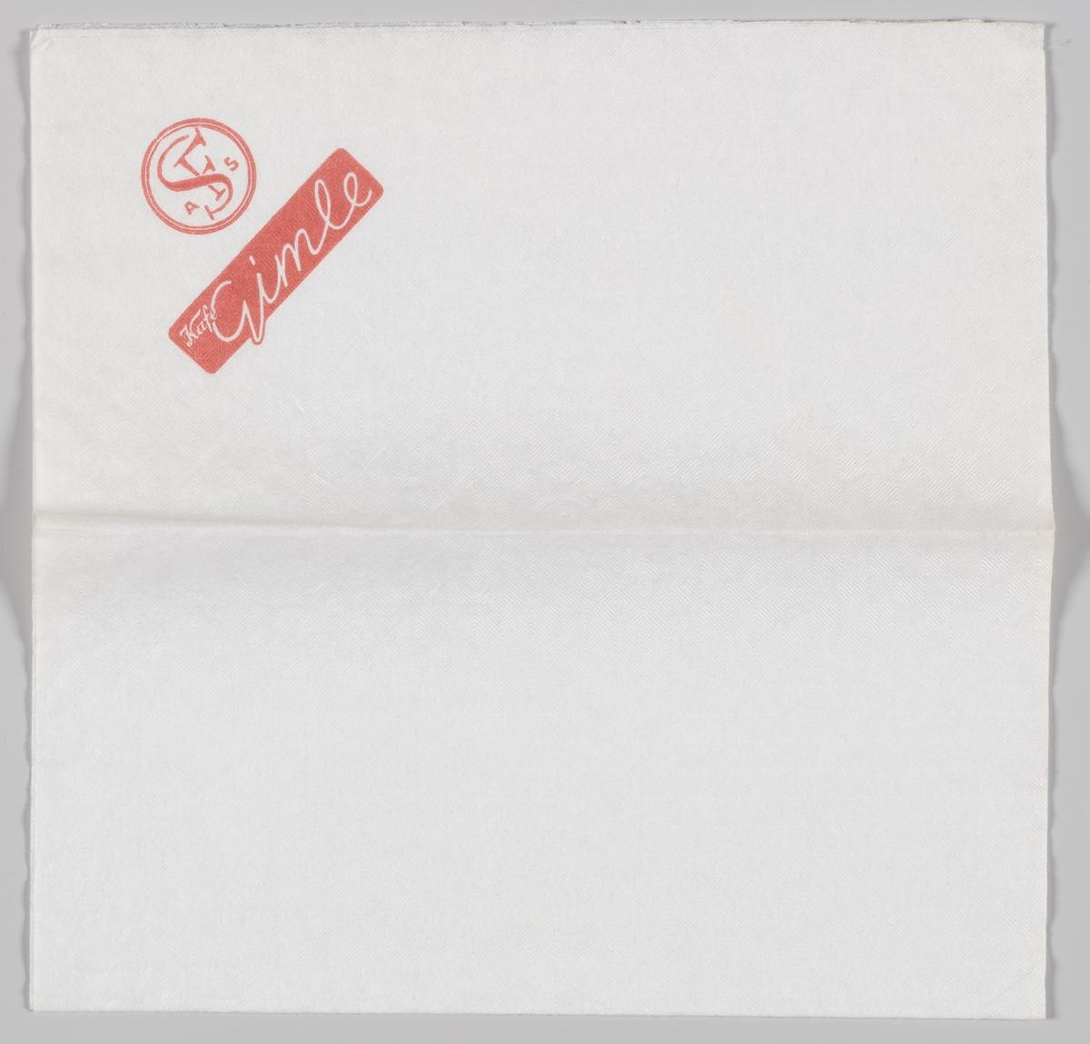 Reklametekst for Kafe Gimle og logoen til SF (kino).