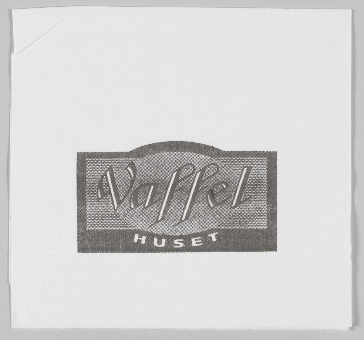 Et stilisert skilt med reklameteksten Vaffelhuset.