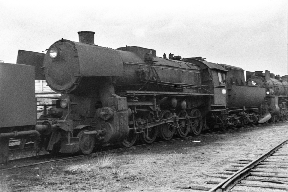 Hensatte damplokomotiver i Lodalen i Oslo, nærmest type 63a nr. 660.