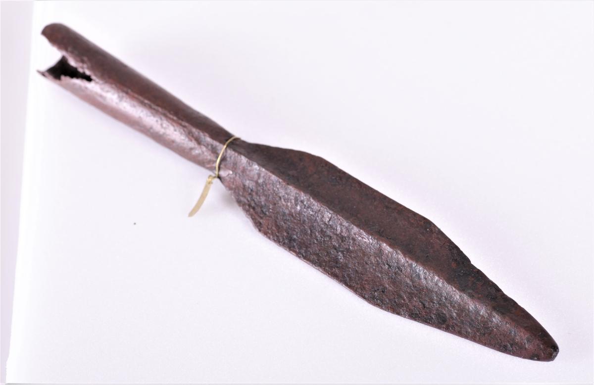 Spydspiss av jern fra jernalderen, funnet i 1820-30-årene.
