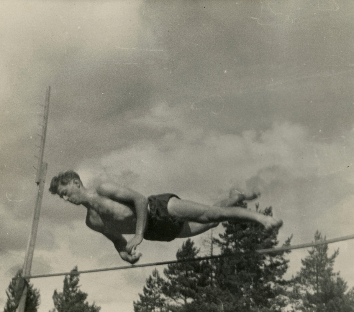 Peter Hugsted during traing at the Ruud cabin