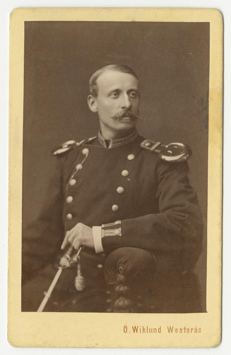 Porträtt av Carl Gustaf Palm, löjtnant vid Västmanlands regemente I 18.