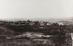 Haugesund ca. 1888, sett fra nord (Arne Lothes hus, Haugevei