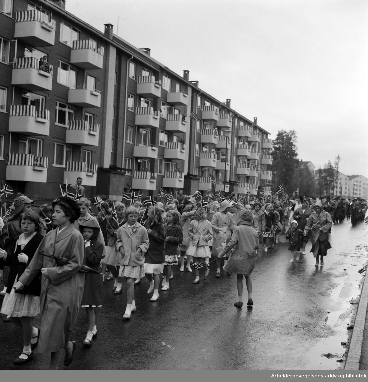 17. mai 1959 på Lambertseter.