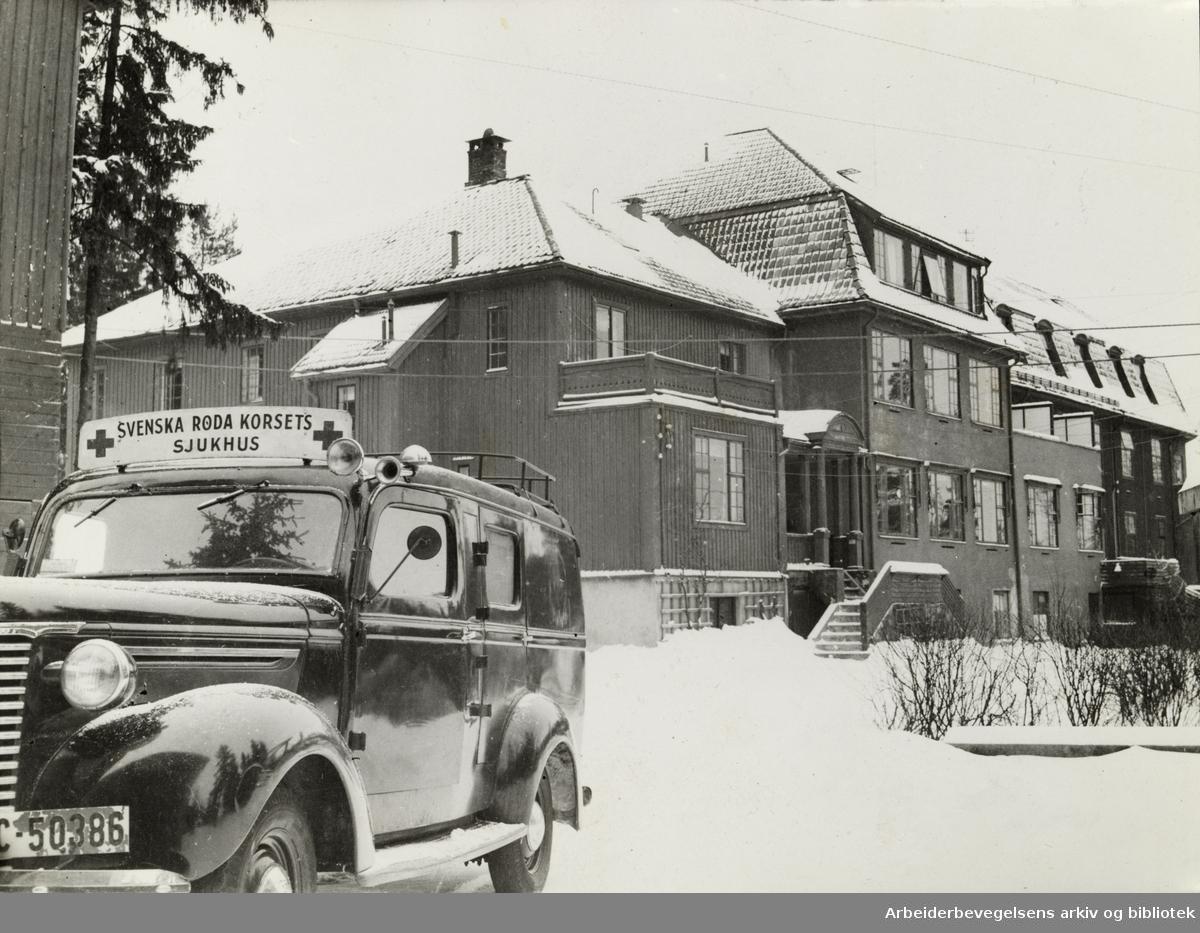 Midtstua. Svenska Røde Korsets sykehus. Desember 1945