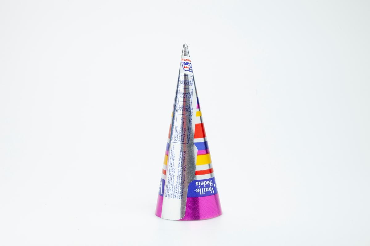 Horisontale striper i ulike farger og bredder.
