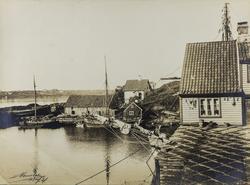 Smedasundet og Risøy sett mot nordvest i 1880-årene.