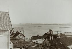 Lillesund sett mot sydvest, ca. 1910.