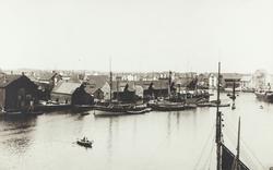 Smedasundet sett mot nordvest, ca. 1920.