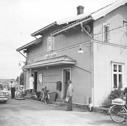 Bjørkelangen stasjon, sett fra et av de siste ordinære tog p