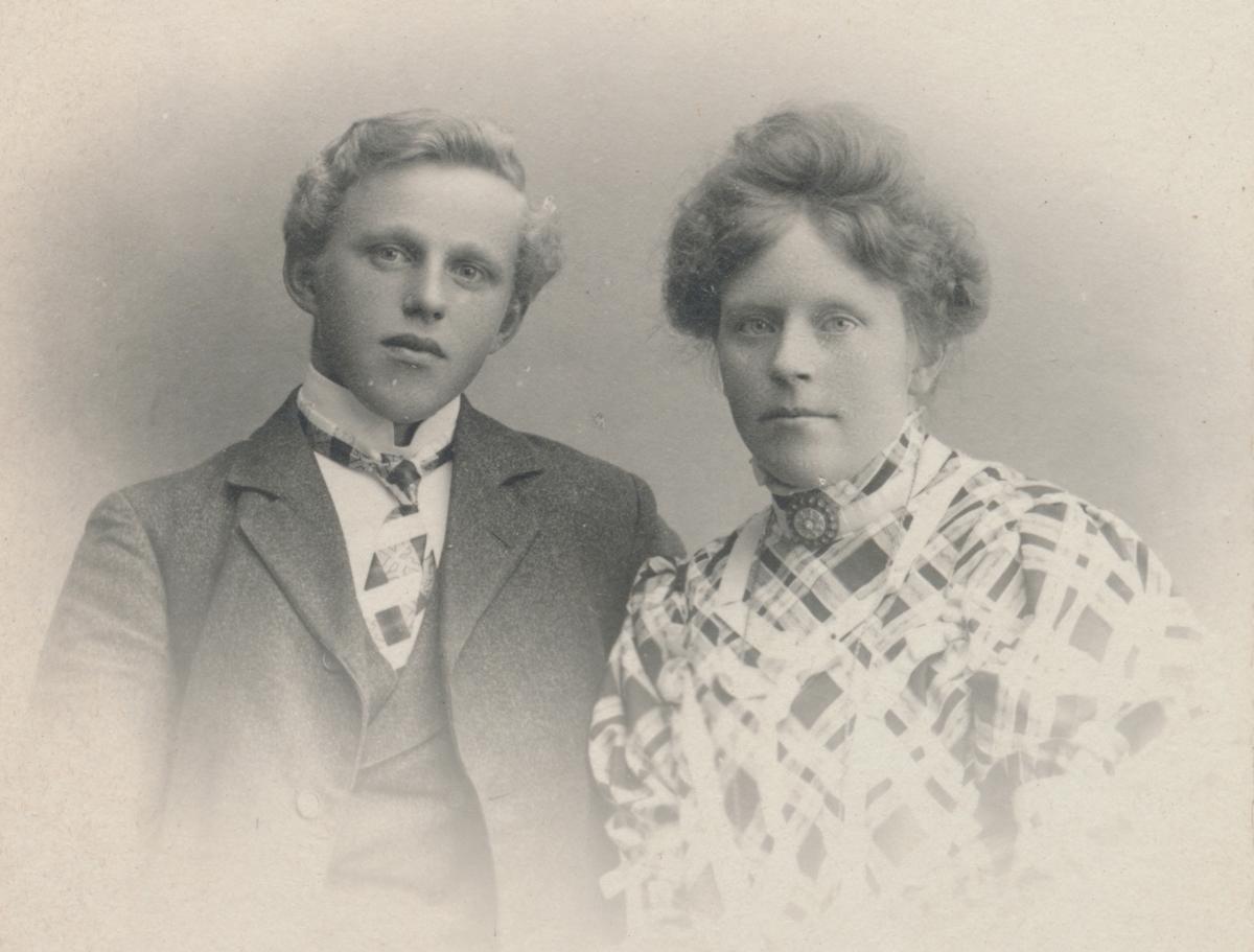 Portrett av ung mann og kvinne, ukjente