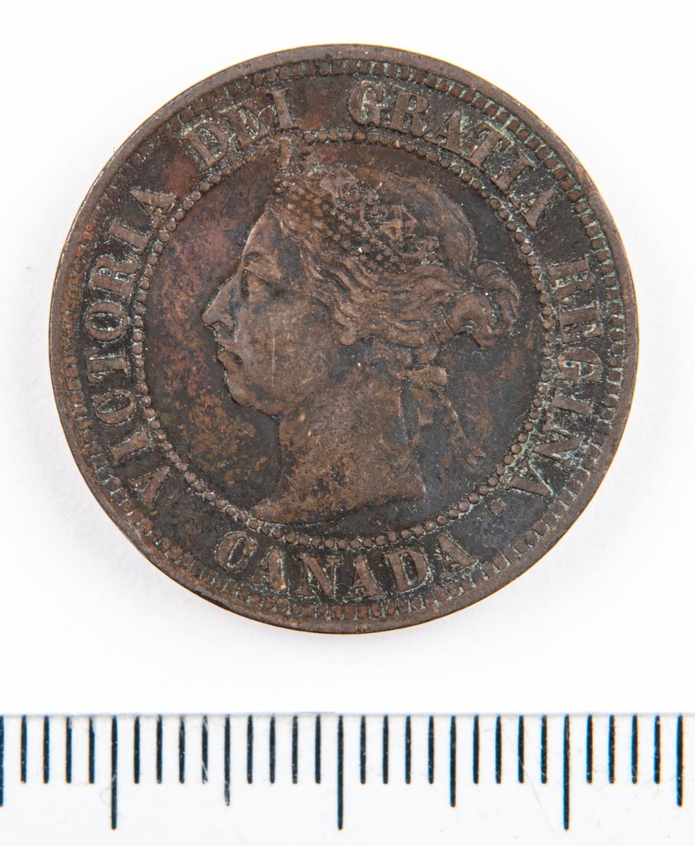 Mynt, Canada, 1891, 1 Cent.