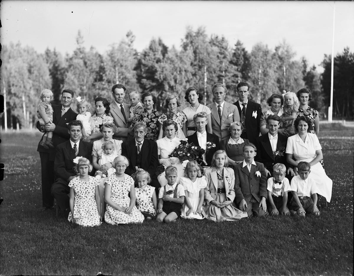 Brudparet Jonsson från Börstil socken, Uppland