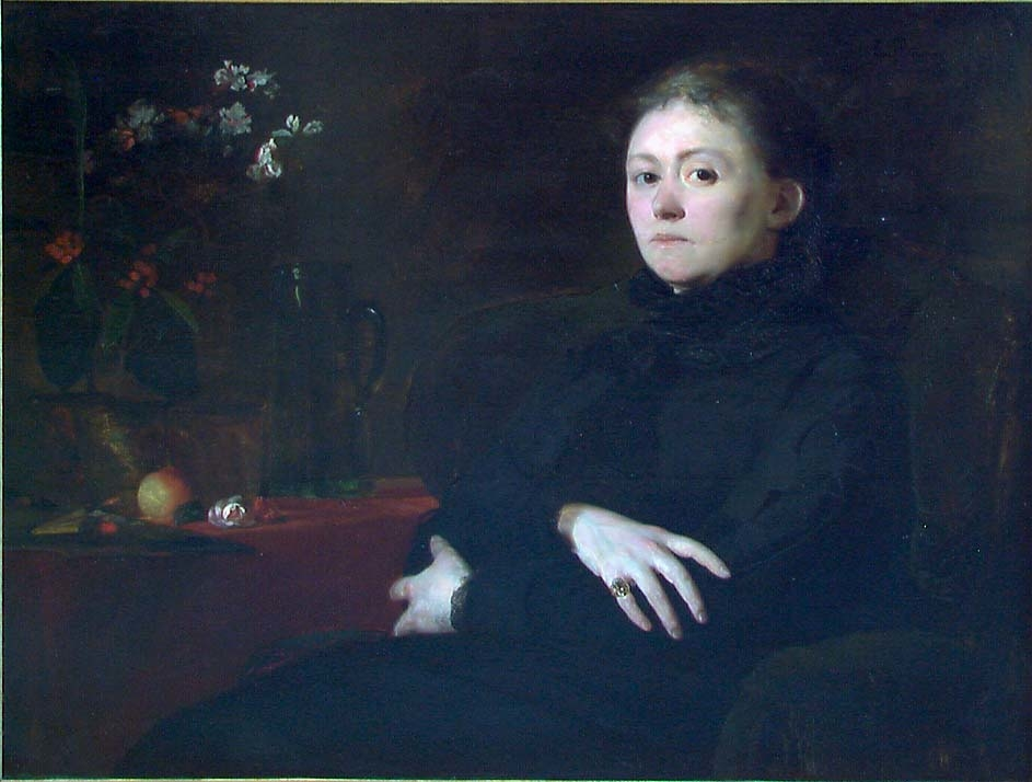 Malerinnen Harriet Backer [Maleri]