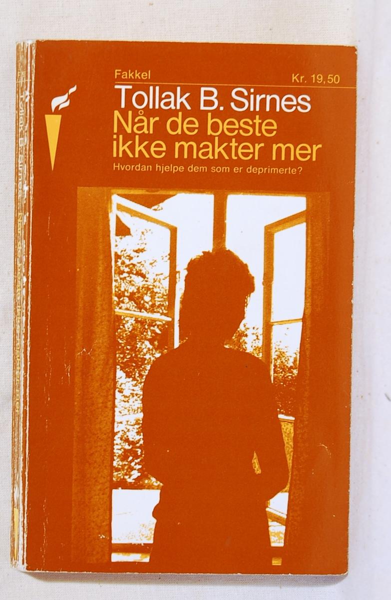 På bokens forside en silhouett av en kvinne ved et åpent vindu