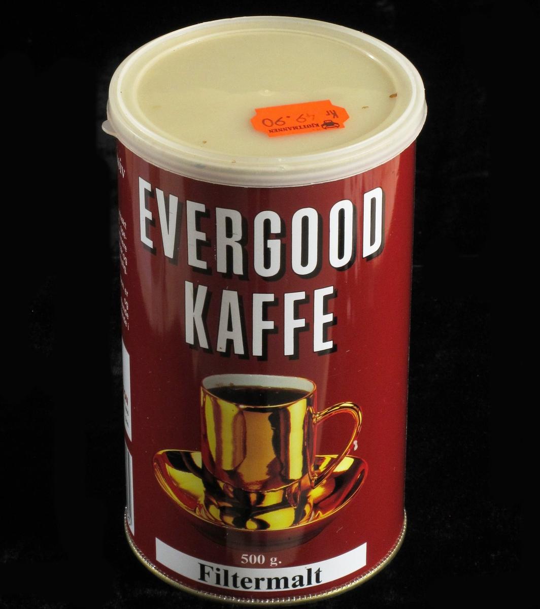 Kaffe i gyllen kopp