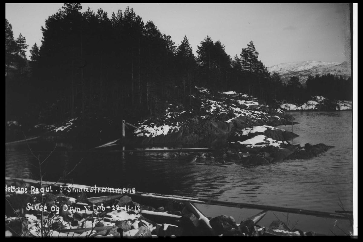 Arendal Fossekompani i begynnelsen av 1900-tallet CD merket 0446, Bilde: 48 Sted: Småstraumene Beskrivelse: Regulering