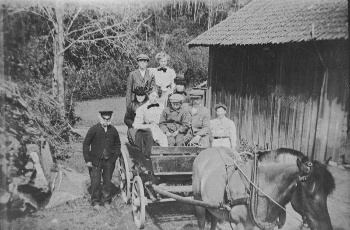 Konrad Jahrmann har hentet gjester med hest og kjerre