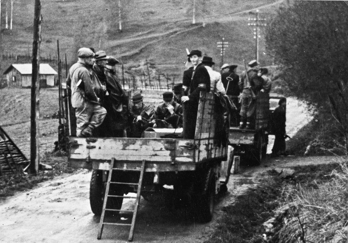 Arrestering av nazister i Feiring 10. mai 1945.