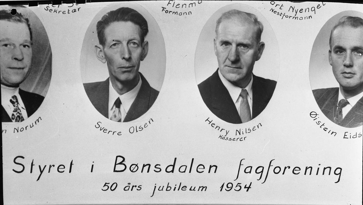 Styret i Bønsdalen fagforening.