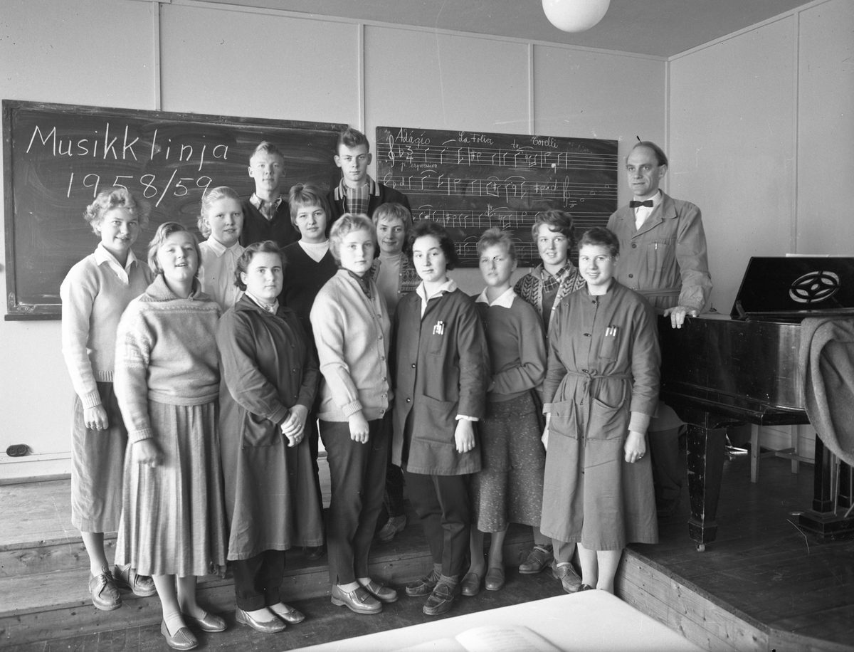 Romerike Folkehøyskole. Musikklinja 1958/59.