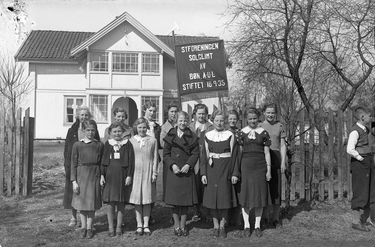 Syforeningen Solglimt av Bøn stiftet 18.09.35