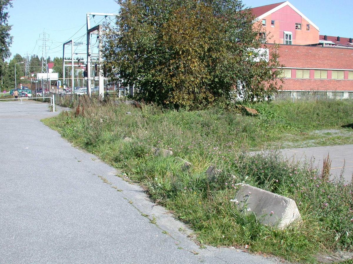 Gress og trær ved Trafostasjonen Fotovinkel: N