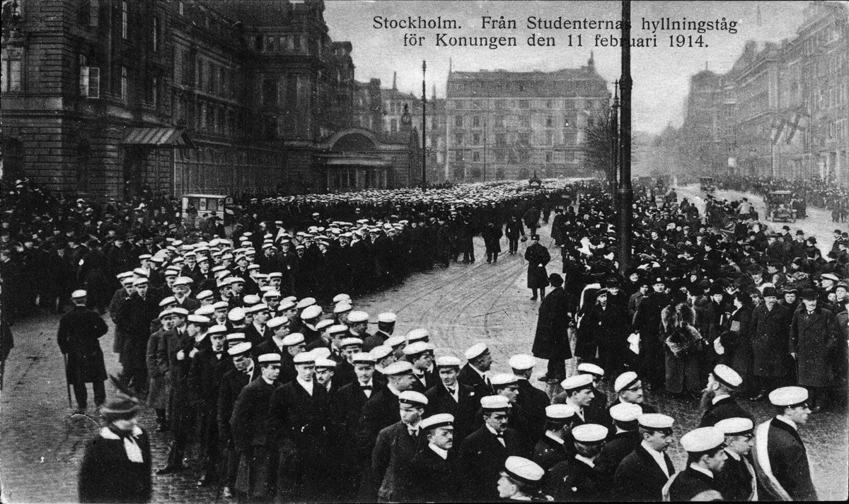 Hyllningståg för Gustaf V, Stockholm